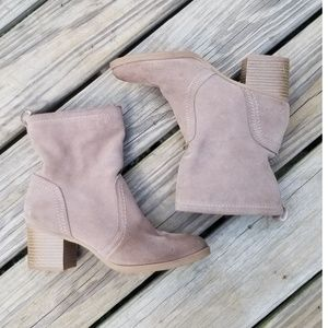 White Mountain Suede Ankle Boots
